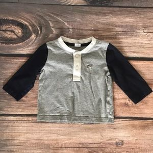 Janie and Jack long sleeve Henley top 3-6 Month